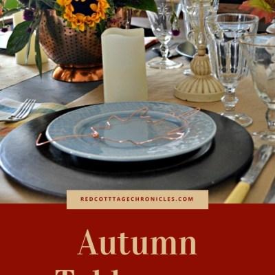 Copper Leaf Autumn Tablescape