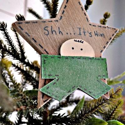 Shhh….it's Him Christmas Ornament