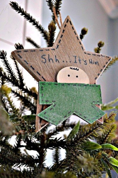 Shhh….it's Him Christmas Ornament