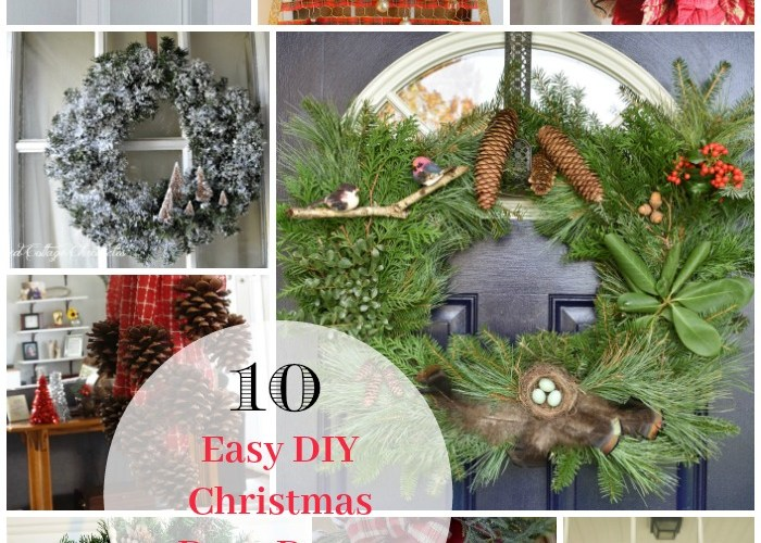 10 Easy DIY Christmas Door Decor Tutorials