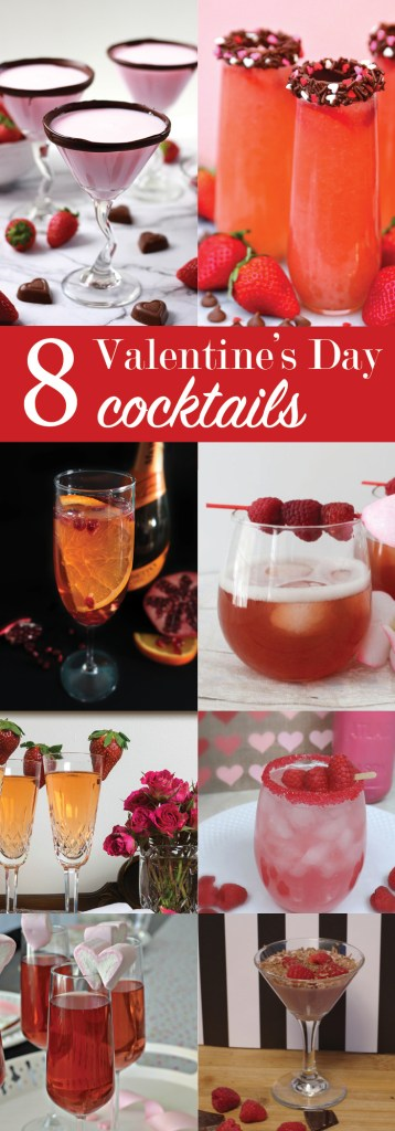 Sparkling Wine Cocktail for Valentines Day