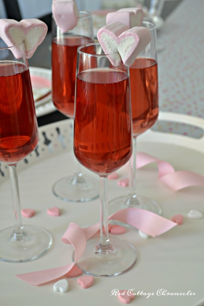 Sparkling Wine Cocktail for Valentine's Day