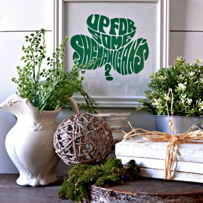 Cricut Projects for Beginners – Shamrock Subway Art