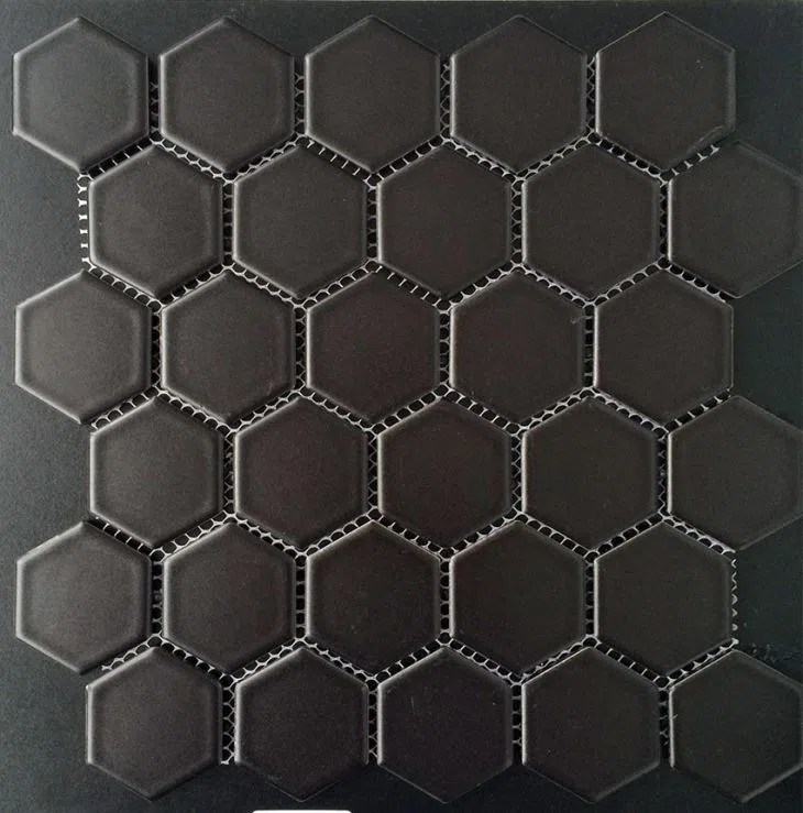 hexagon ceramic mosaic tiles for swimming pool and bathroom manufacturers suppliers professional factory yueshan enterprise