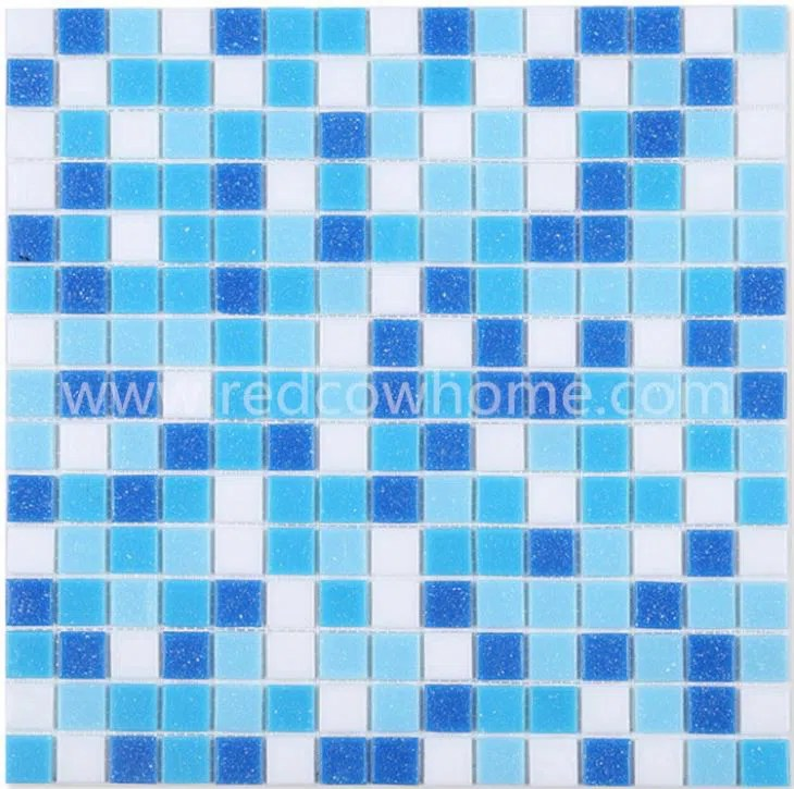 hotel deco hot melting dark blue pool glass mosaic tile manufacturers suppliers professional factory yueshan enterprise