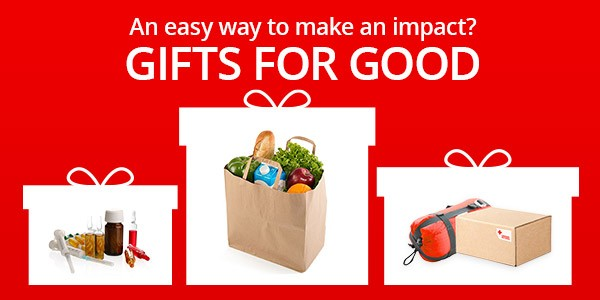 An easy way to make an impact? GIFTS FOR GOOD