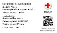 Digital Certifications Red Cross