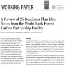 World Resources Institute review of World Bank-approved R-PINs finds critical issues are conspicuously missing