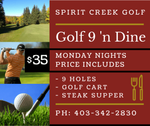 Golf 9 'n Dine – Mondays