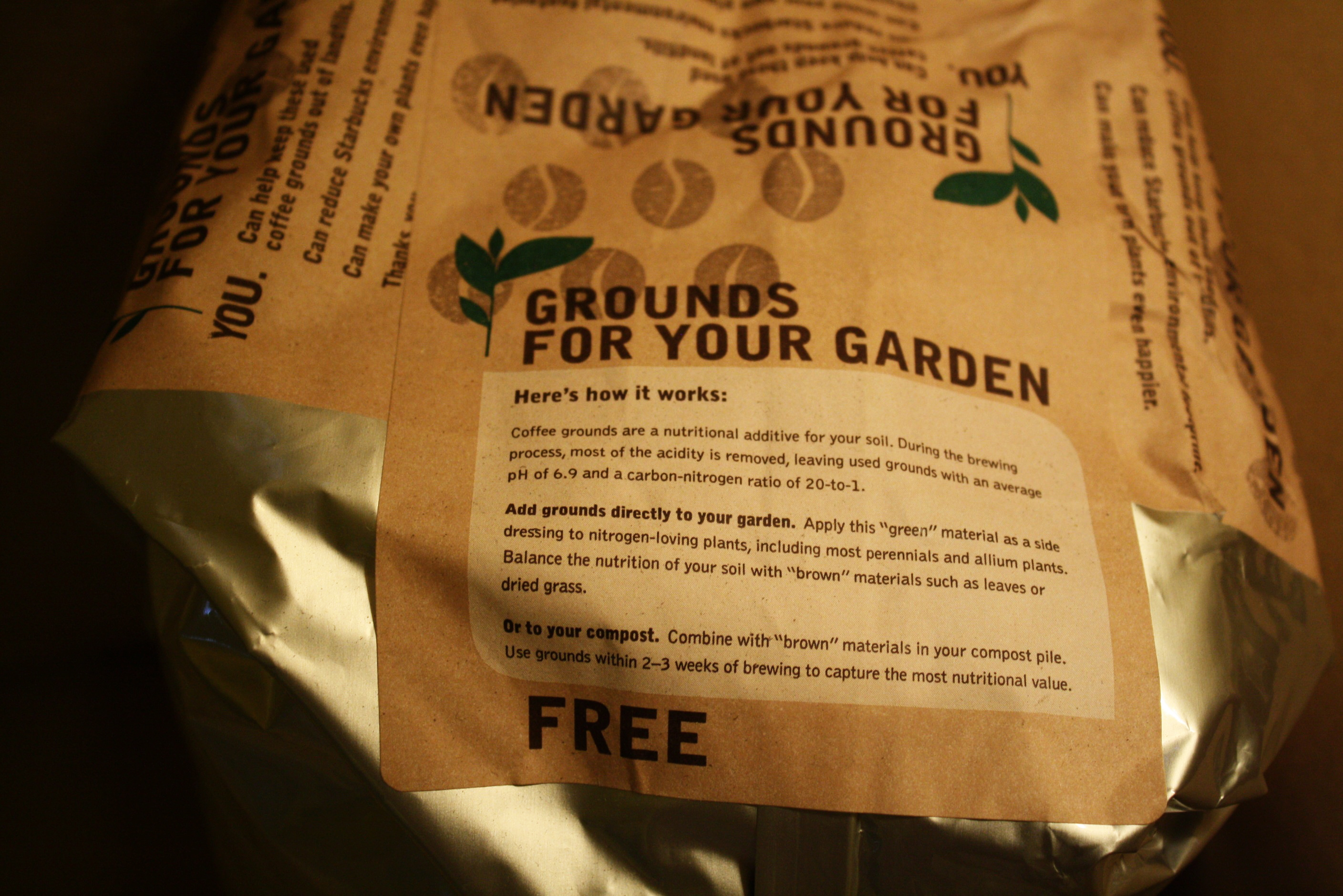 """My Little Victory Garden: """"Thank you, Starbucks!"""" 