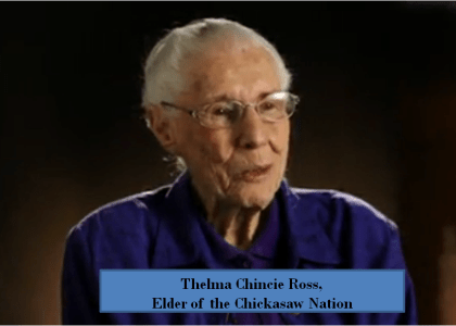 Chincie Ross Chickasaw Elder