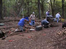 Digging at Rose Hill Plantation
