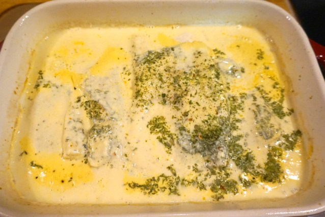 Baked Northern Pike in Coconut Curry Sauce