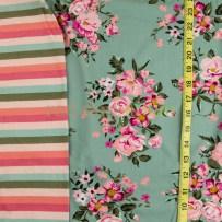Vintage Floral w/Coordinating Stripes