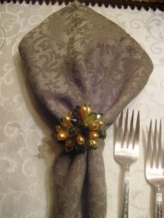 table napkin ring close up