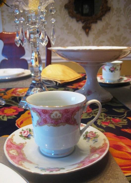tea cup saucer close up