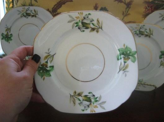 green irish plate close up