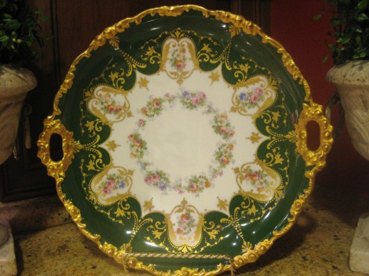green limoges plate