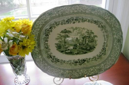 green staffordshire lg platter
