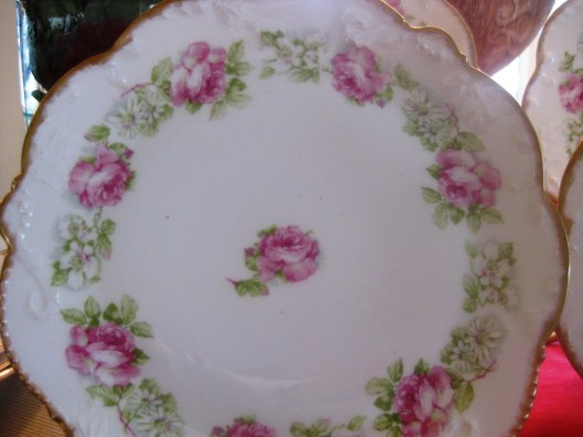 limoges plate close up