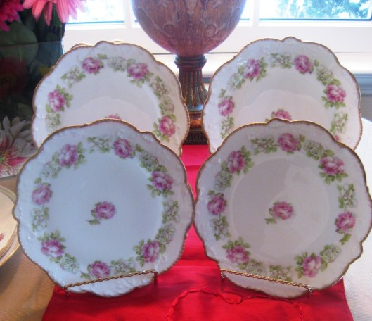 limoges set of 4 plates