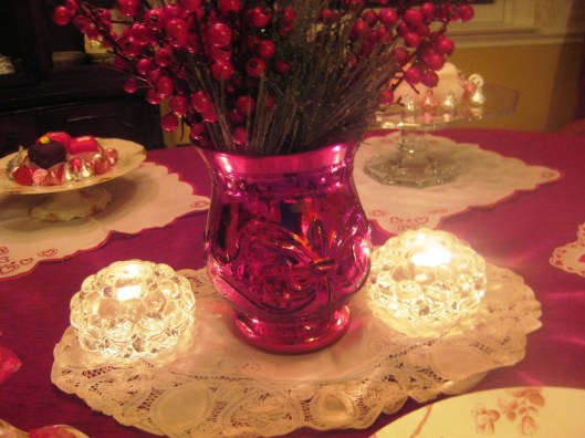 centerpiece and orrefors votives
