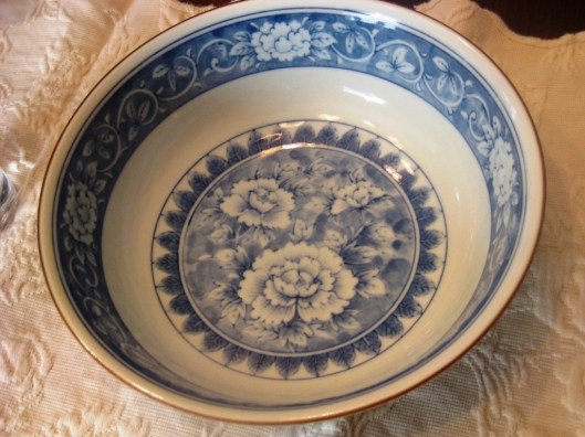 tiffany bowl inside