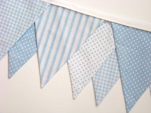 baby blue bunting