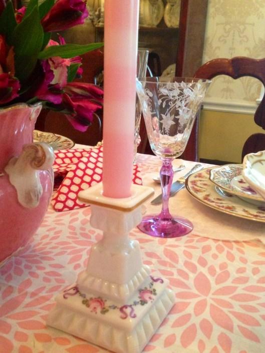candlestick close up