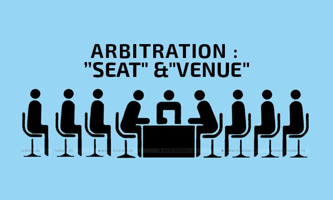 The venue of Arbitration can be treated as judicial seat of the arbitration if no contrary intention is present.