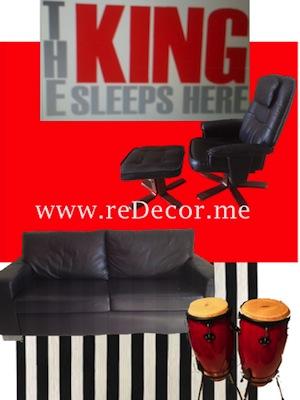 bright red and black interior