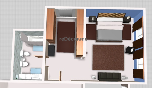 3D Interior proposal for a Master bedroom