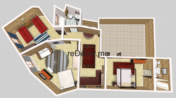 2D floorplan and decor ideas for house of character