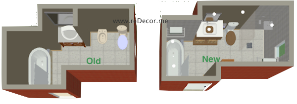 3D bathroom floorplan