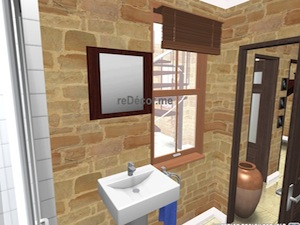 Bathroom interior proposal for a restored house of character