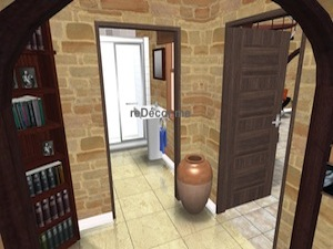 Bathroom 3D interior design