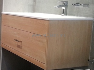 CARPENTRY DUBAI wahbasin cabinet oak