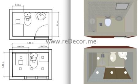 2d 3d floorplans for bathroom small