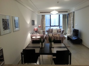 furnished JLT goldCrest apartment decor