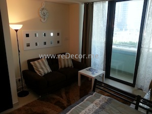 furnished studio interior decor dubai