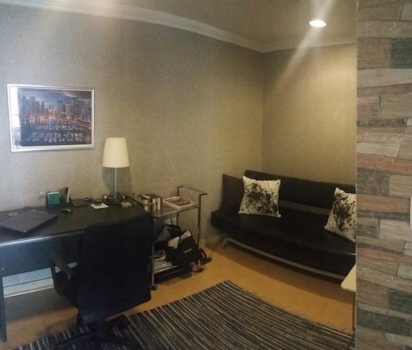 Study room interior, simple, Dubai consultation, colour wallpaper
