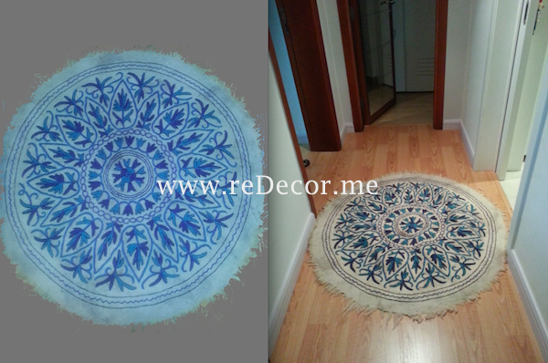 beautiful wool handmade rugs from India as accessory