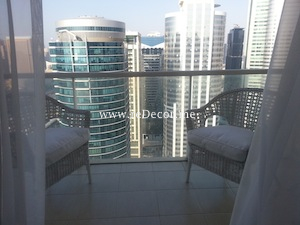 view from the apartment in lakeview jlt