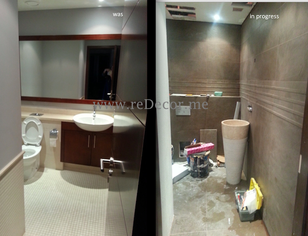 guest WC remodelling and redesigning bathroom in Dubai