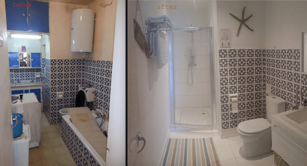old bathroom remodelling, Malta, before and after