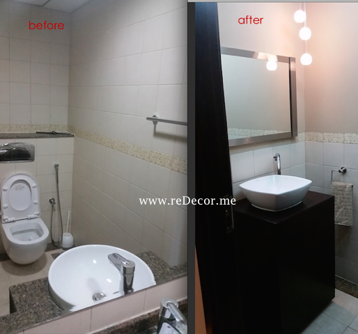 Powder room (guest WC) upgrade in Dubai Marina