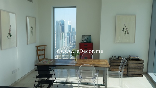contemporary dining room Downtown dubai Interior decor