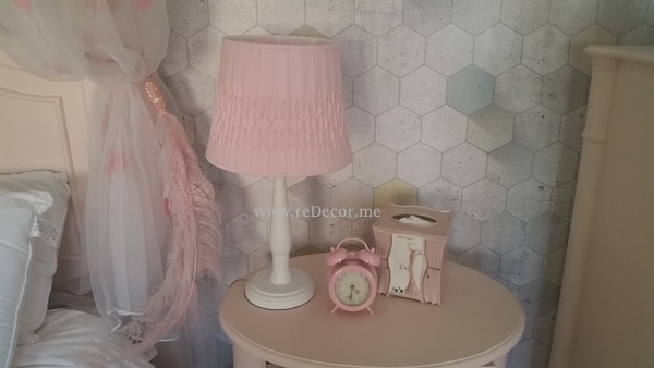 teen room with pink and grey, 3Dwallpaper, pink furniture teenager room interior decor