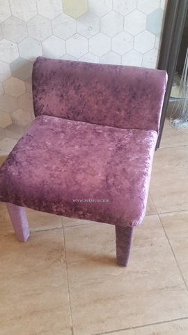 custom made furniture for teenager room, purple velour chairs for a girl