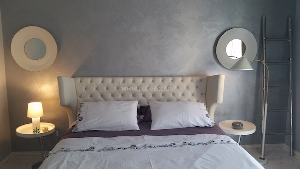 guest bedroom, jotun paint, white bed, marble flooring, Interior decor Dubai, consultation